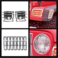Euro Guard Light Kit for Jeep TJ and LJ (1997-2006), Stainless