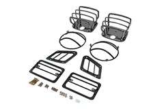 Euro Guard Light Kit for Jeep TJ and LJ (1997-2006), Black