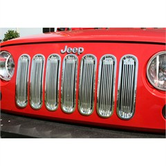Billet Grille Inserts, Jeep JK (2007-2014), Polished Aluminum