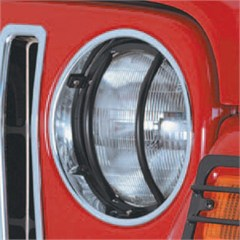 Headlight Euro Guards, Jeep TJ (1997-2006), LJ (2004-2006), Black