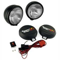 "Fog Light Kit, Round, HID, Steel Housing, 5"" Inches, Black"