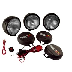 "Fog Light Kit,  Round, HID, Steel  Housing, 6"" Inches, Black"