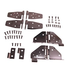 Door Hinge Kit for Jeep YJ (1987-1995), Black Chrome