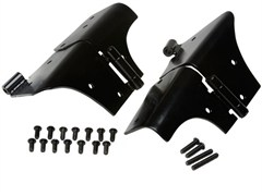 Windshield Hinges for Jeep TJ and LJ (1997-2006), Black