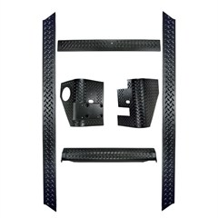 Body Armor, 6 Piece Kit, Jeep TJ (1997-2006), Black