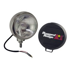 "Fog Light, Round, HID, Stainless Steel Housing, 5"" Inch"