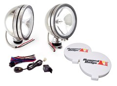 "Halogen Fog Light Kit, Housings, Stainless Steel, 6"" Inches"