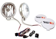 Halogen Fog Light Kit, Slim, Housings, Stainless Steel