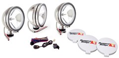 "Halogen Fog Light Kit,  6"" Inch, Stainless Steel"