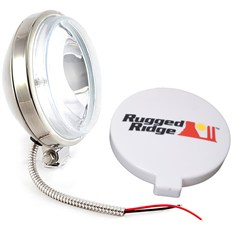 "Halogen Fog Light, Slim, 6"" Inch, Housings, Stainless Steel"