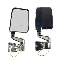 Door Mirror Kit Led Signal Dual Focus, Jeep YJ (1987-1995), TJ (1997-2002), Chrome