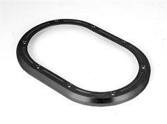 Shifter Bezel, Billet Aluminum, Jeep JK (2007-2010), Black