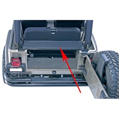 Replacement Tailgate Bar for Jeep Wrangler YJ and TJ, 1987-2006