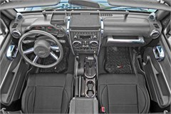 Interior Trim Accent Kit - Jeep JK 4D M/T & M/W,2007-2010,Chrome