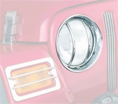 Euro Head Light Guards, Stainless - for Jeep TJ, LJ (1997-2006)