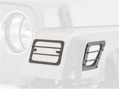 Euro Turn Light Guards, Black - 4 Piece for Jeep TJ/LJ (1997-2006)
