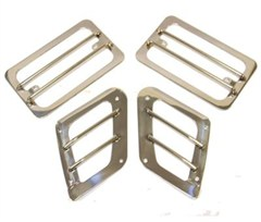 Euro Turn Light Guards, Stainless - for Jeep TJ, LJ (1997-2006)