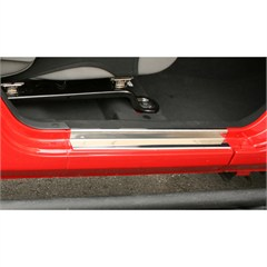 Stainless Steel Entry Guards - 2 Door Jeep Wrangler JK 2007-2014