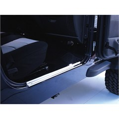 Pair of Stainless Steel Entry Guards for Jeep Wrangler TJ (1997-2006) and LJ (2004-2006)