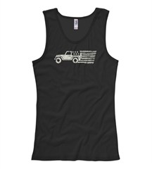 Old Glory Women's Tank, by All Things Jeep