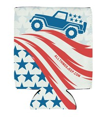 Old Glory Neoprene Koozie