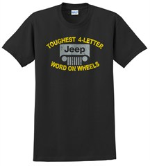 "Jeep ""Toughest 4 Letter Word"" Unisex Tee - Black"