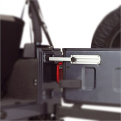 Billet Aluminum Tailgate Stop by Rugged Ridge for Jeep Wrangler YJ, TJ, LJ and JK (1987-2014)