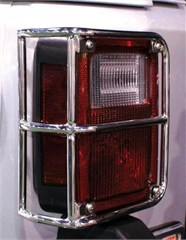 Tail Light Euro Guards Wrangler JK 2007-2016 Stainless Steel Polish