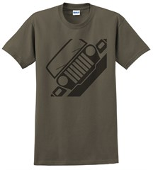 Jeep TJ Front Silhouette Men's Tee