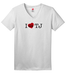 I LOVE TJ  Women's V-Neck T-Shirt