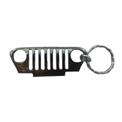 Jeep Key Chain:  Jeep TJ Grille - Silver
