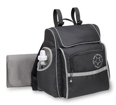 Jeep Trend Sport Backpack Diaper Bag- Black/Grey