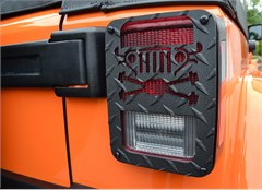 Tail Light Guards Cross Axles Jeep Wrangler JK 2007-2017 Black