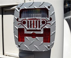 Jeep Tweaks Silver Tail Light Guards - CJ, YJ, TJ, LJ