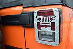 Jeep Tweaks Tail Light Guards - 2/4 Door JK, Silver 2007-2015