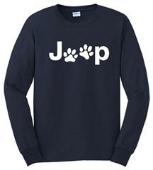 Jeep White Dog Paw Long Sleeve T-Shirt