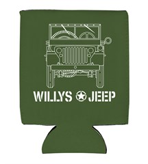 Willys Blueprint Style Neoprene Koozie