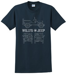 Willys Blueprint  Men's T-Shirt