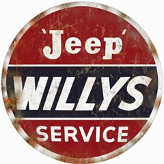 "Jeep Willys Service Nostalgic Round 14"" Sign"