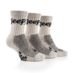 Jeep Womens Luxury Boot Socks (3-pack), Stone White