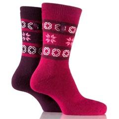 Closeout Jeep Women's Winter Fair Isle Socks (2-pack)