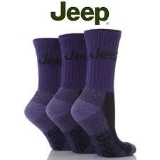 Jeep Womens Luxury Boot Socks (3-pack), Plum