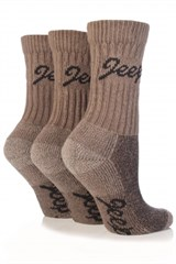Jeep Womens Luxury Boot Socks (3-pack), Taupe