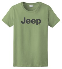 Women's T-Shirt with Dark Gray Jeep Logo