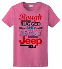 "CLOSEOUT - ""Rough Rugged and Ready"" Women's Tee - Pink"