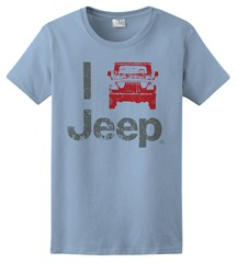 """I Jeep"" Women's Tee - Light Blue"