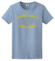 "Jeep ""Toughest 4 Letter Word"" Women's Tee - Light Blue"