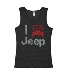"""I Jeep"" Women's Tank Top - Black"