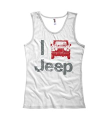 """I Jeep"" Women's Tank Top - White"