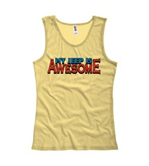 """My Jeep is Awesome"" Women's Tank Top - Yellow"